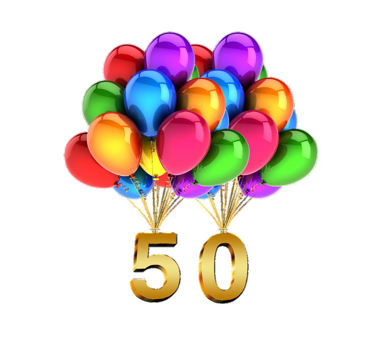 50. Geburtstag gebührend feiern