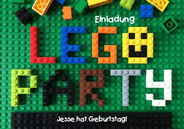 Kindergeburtstagseinladung zur LEGO Party