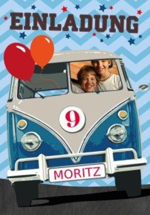 Kindergeburtstag Cars und Co mit VW-Bus, auch Bulli genannt