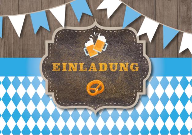 Passende Karte zur Einladung zum bayrischen Abend