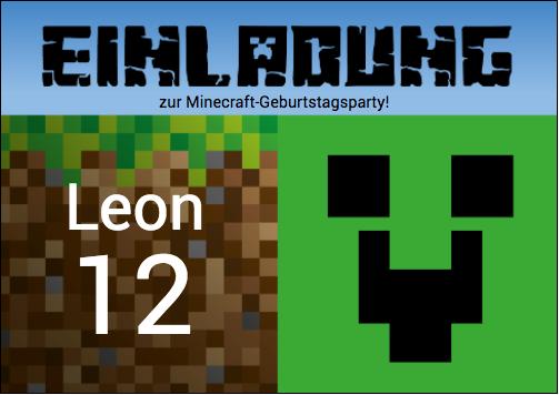 Dieses Minecraft-Motiv passt auch zu anderen Spielen