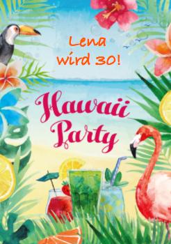 Party unter dem Motto Hawaii