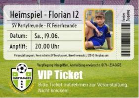 Ein VIP-Ticket zur Fußballeinladung