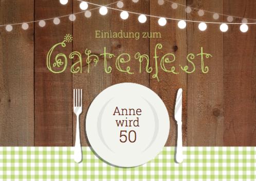 Einladung zum Gartenfest