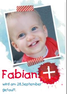 Schöne Einladung zur Taufe Ihres Sohnes!