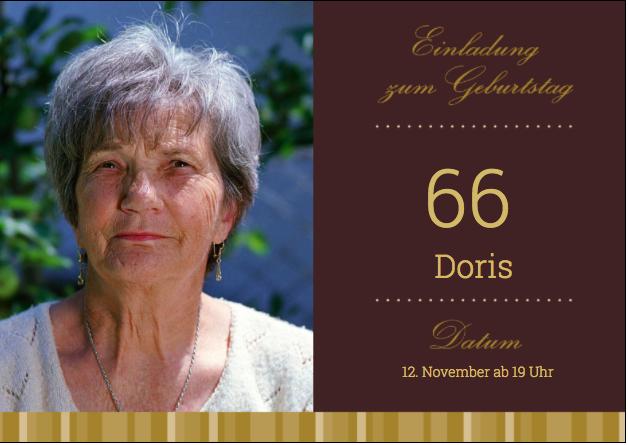 Einladung zum 66. Geburtstag
