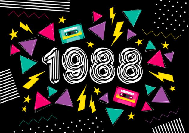 Einladung 80er Jahre: Wenn Sie 30 Jahre in 2018 werden