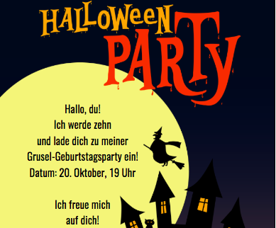 Party an Halloween