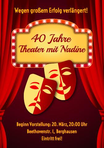 Zur Theater Party einladen oder Einladung ins Theater