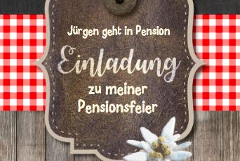 Einladung Pensionsfeier –  der gemütliche Teil des Lebens fängt an