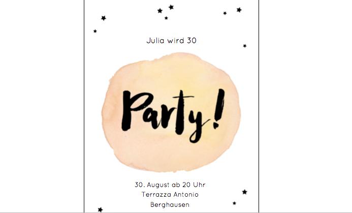 Einladung 30. Geburtstag