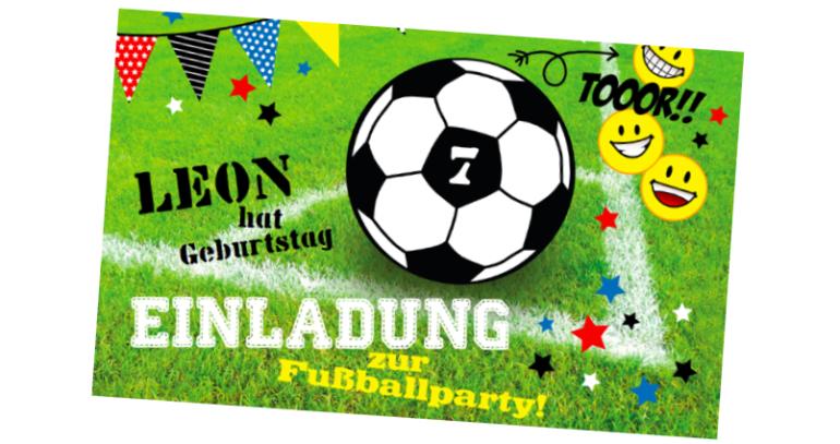 Einladung zur Fußballparty