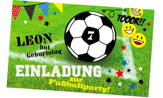 Fußball Einladung für kleine Fußballfans