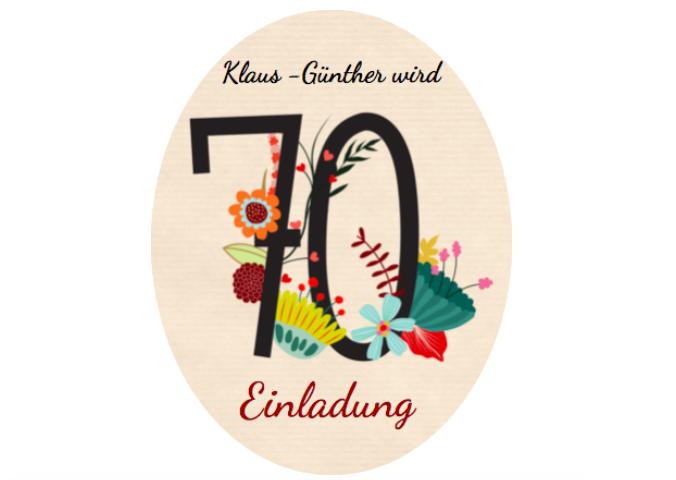 Einladung 70.Geburtstag