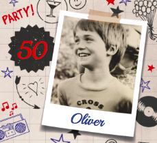 Einladung zum 50. Geburtstag
