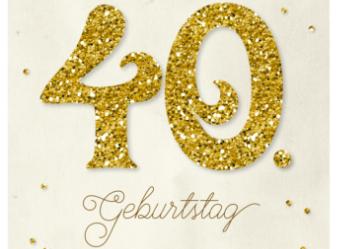 Einladung zum 40. Geburtstag