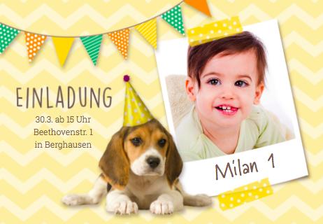 Einladung zum 1.Geburtstag