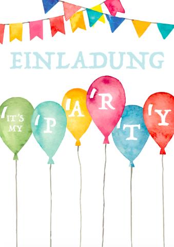 Einladung Luftballon