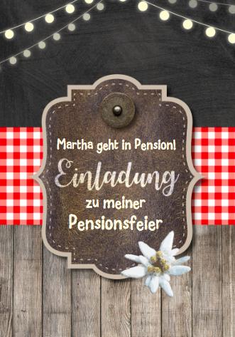 Zur Pensionsfeier diese Einladungskarte?