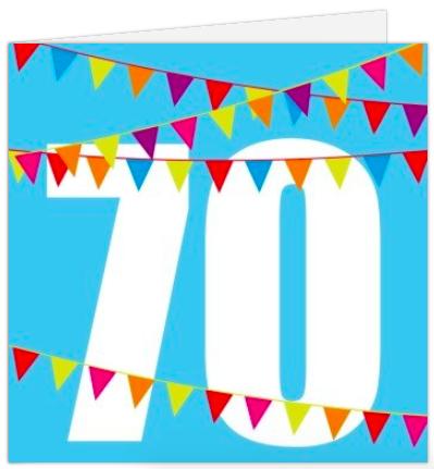 Tolle Karte für die Einladung zum 70.Geburtstag