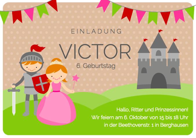 Einladung Prinzessinnenparty