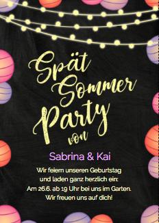 Einladung zur Sommerparty