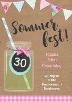 Sommergeburtstagsfest oder Sommerfest 30