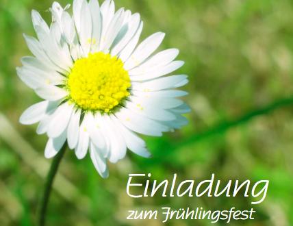 Herzlich willkommen zum Frühlingsfest!