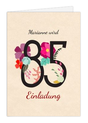 Einladung Zum 85 Geburtstag Gibt Das Ereignis Ausführlich Kund