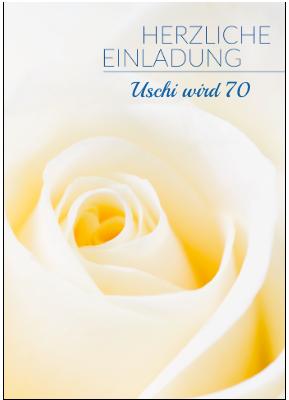 Einladung zum 70.Geburtstag