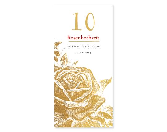 Einladung zur Rosenhochzeit