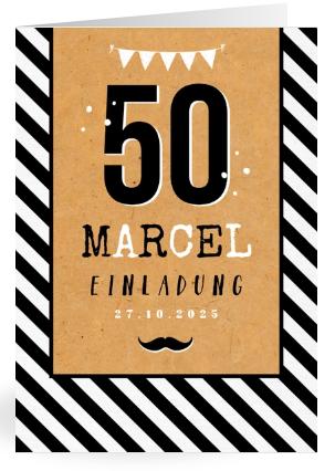 Einladung zu, 50. Geburtstag