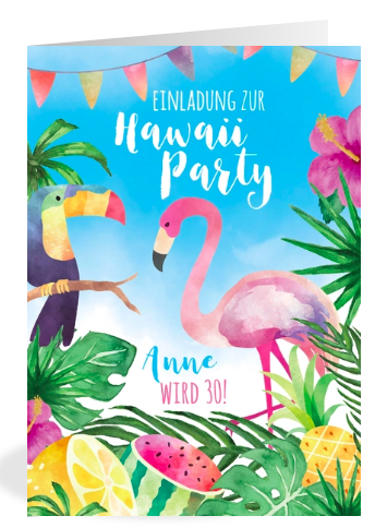 Einladung zur Hawaiiparty