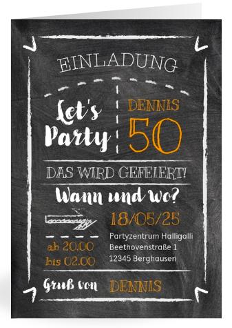 Einladung für runde Geburtstage