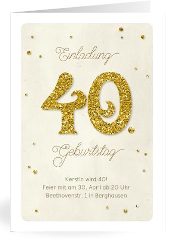 Einladung zum runden Geburtstag