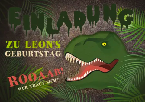 Einladung mit Dino