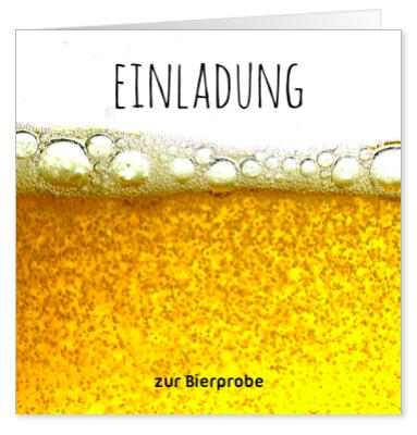 Einladung zur Bierprobe