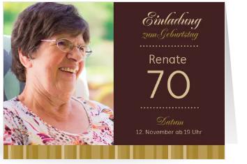 Einladungen zum 70.Geburtstag