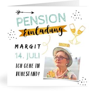 Tolle Einladung zur Pension
