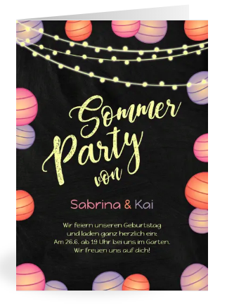 Einladung Sommerparty