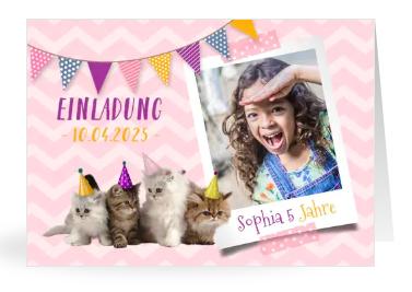 Geburtstagseinladung für Frühlingskinder