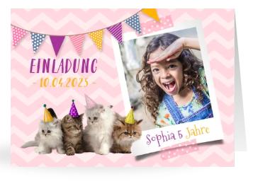 Einladungskarten mit Tierfoto