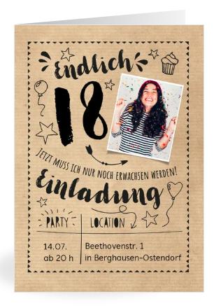 Einladung zum 18. Geburtstag