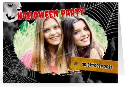 Einladung für Halloween zum Gruseln schön