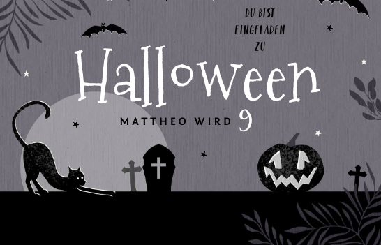 Einladung zur Halloween-Party