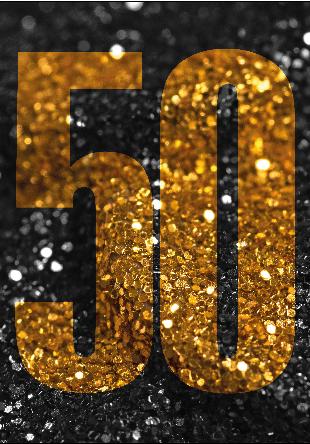 Glitzer Party zum 50. Geburtstag , Glitter zum Geburtstag