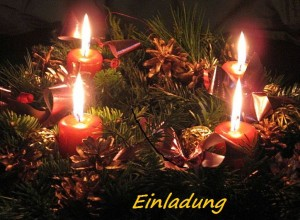 Einladung Adventsfeier zum Beisammensein im Kerzenschein