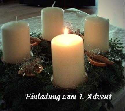 So gestalten Sie eine Einladung zum 1. Advent