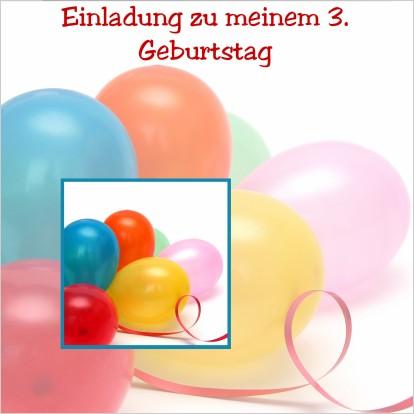 Beliebt Bevorzugt Einladung zum dritten Geburtstag - Einladungen auf einladung.com &QO_71