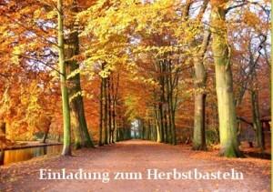 Einladung zum Herbstbasteln